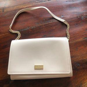 NWT Kate Spade Angelea Clutch; beige Leather